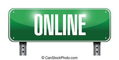 online street sign illustration design