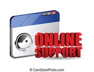 online support service concept illustration