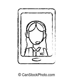 online support technical service or call center related icon ima