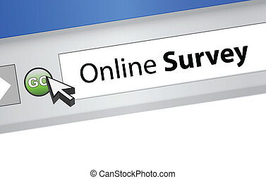online survey computer browser illustration