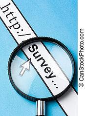 Online survey - Computer Screen, concept of online survey