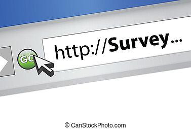 online survey illustration graphic design browser background