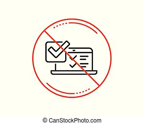 Online survey line icon. Select answer sign. Vector