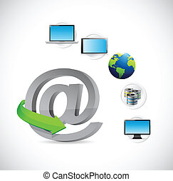 online technology electronics network illustration design...