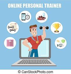online, trainer., persoonlijk