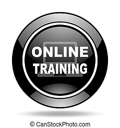 online training black glossy icon