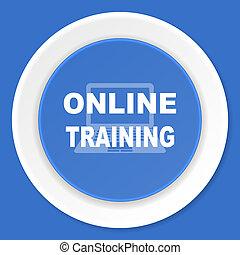 online training blue flat design modern web icon