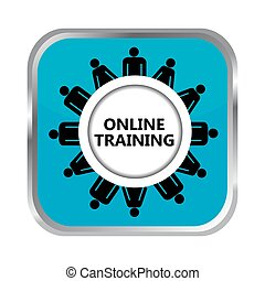 Online training button