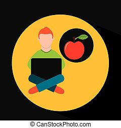 online training education-student apple
