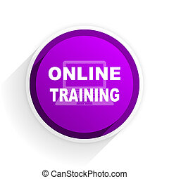 online training flat icon