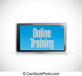 online training text sign illustration design