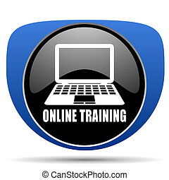 Online training web icon