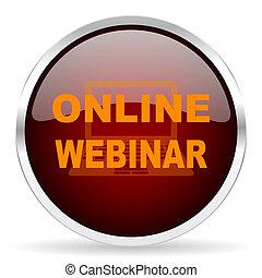 online training webinar education computer silver metallic vector icon