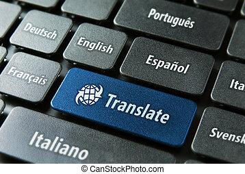 Online translation service concept - Multilingual ...