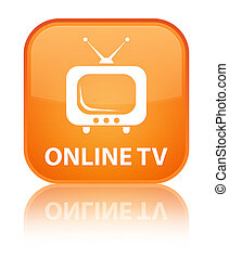 Online tv special orange square button