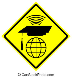 Online University Degree - Concept sign for distance...