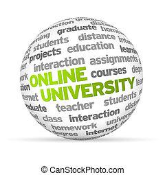 Online University - 3d Online University Word Sphere on...