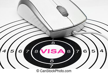 Online visa concept