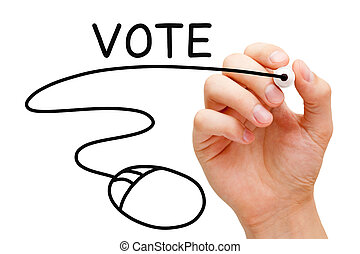Online Voting Computer Mouse Concept
