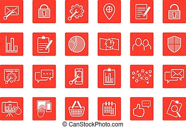online web icon and business icon set