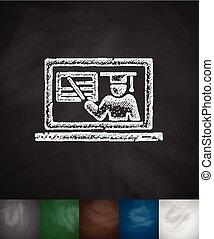 online, webinar, pictogram
