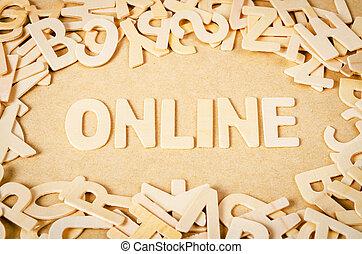 online, woord, gemaakt, door, brief, pieces.