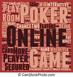 onlinepoker text background wordcloud concept