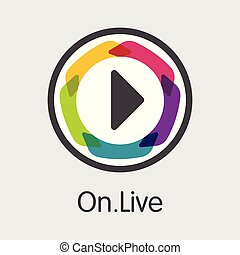 Onlive - Digital Coin Vector Icon of Cryptographic. - Onlive...