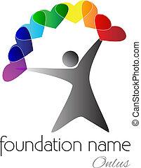 onlus, logo, -, nom, association