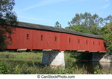 Kissing Bridge - Only covered bridge left in Ontario. ...