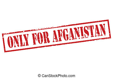 Only for Afganistan - Rubber stamp with text only for...
