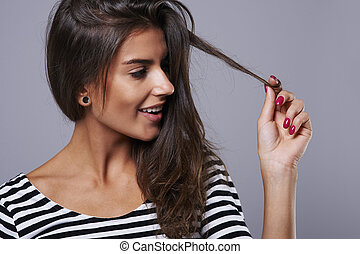Only good cosmetics is a guarantee of healthy hair
