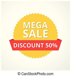 Only Mega Sale banner. Big super sale