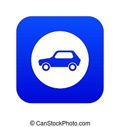 Only motor vehicles allowed road sign icon digital blue