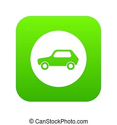 Only motor vehicles allowed road sign icon digital green