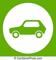 Only motor vehicles allowed road sign icon green