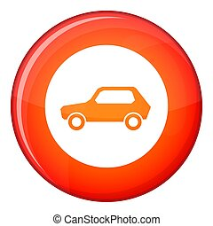 Only motor vehicles allowed road sign icon