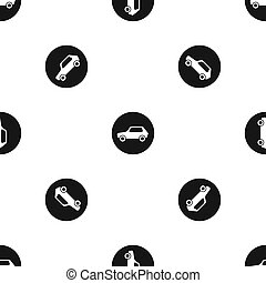 Only motor vehicles allowed road sign pattern seamless black