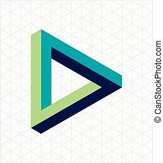 onmogelijk, abstract, driehoeksvorm, meldingsbord