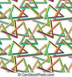 onmogelijk, driehoek, seamless, model