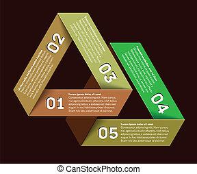 onmogelijk, infographic, driehoek