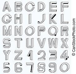 onmogelijk, lettertype