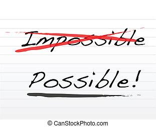 onmogelijk, mogelijk, schrijvende