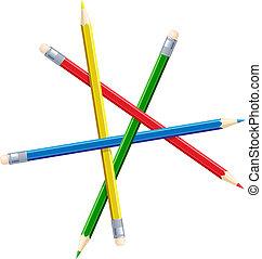 onmogelijk, pencils., figuur