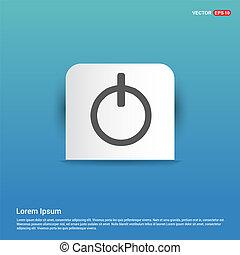 On/Off switch icon - Blue Sticker button
