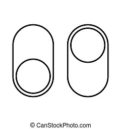 On/Off switch icon. turn sign vector