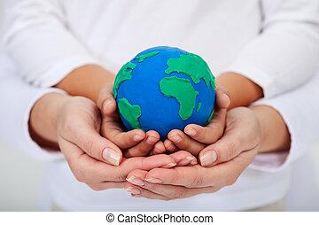 ons, erfenis, om te, de, volgende, generaties, -, een, schoonmaken, aarde