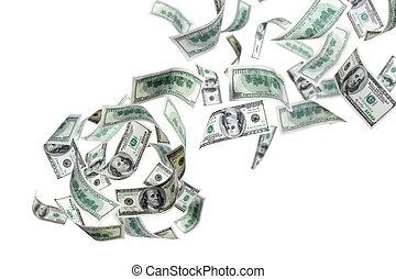 ons, het vallen, dollars