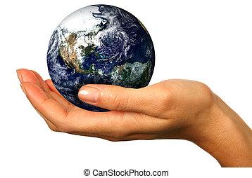 ons, toekomst, handen