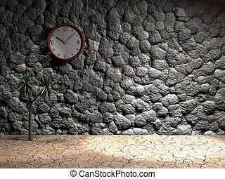 onstone, vägg klocka